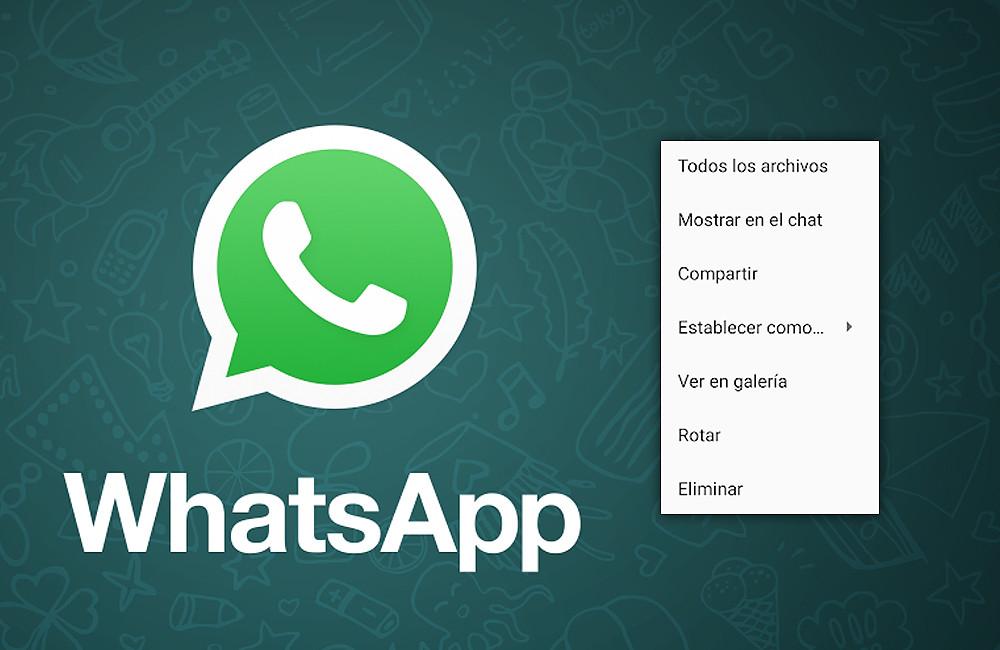 WhatsApp para ©Android renueva el menú para las imágenes, actualmente con nuevas opciones