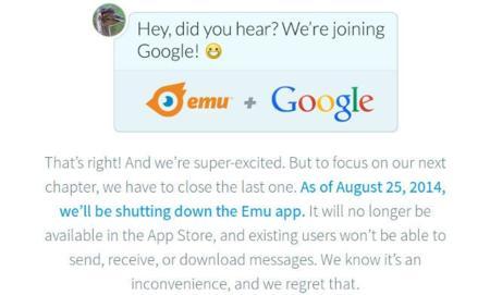 Google compra Emu, un cliente de mensajería instantánea con asistente