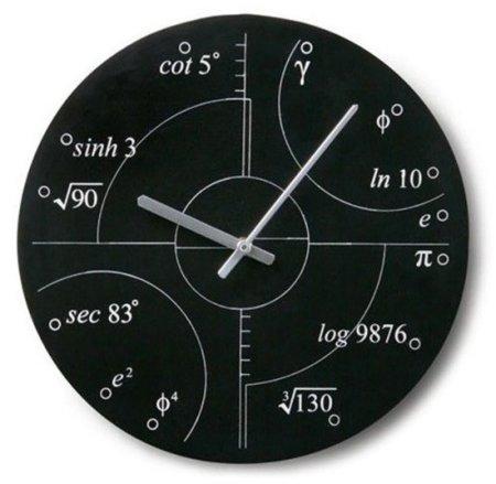El reloj irracional, perfecto para matemáticos