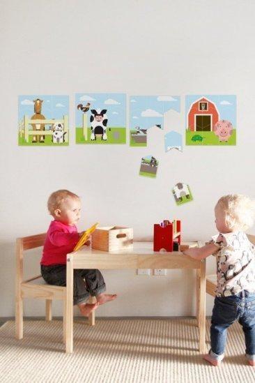 Puzzles de pared para la habitación infantil