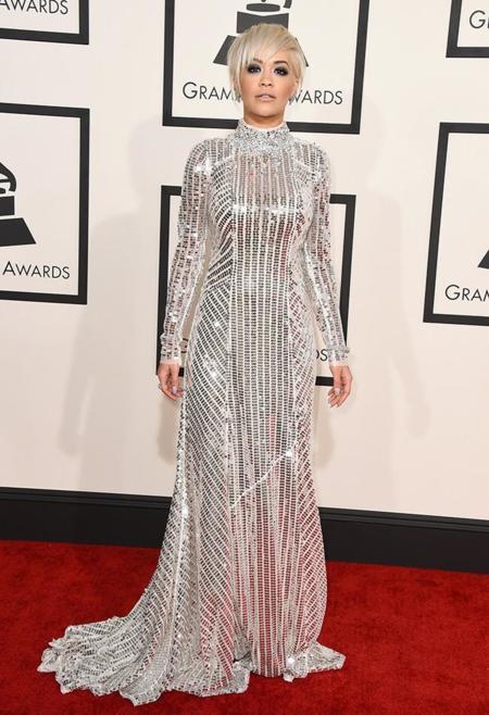 Rita Ora Grammys 2015 Prada