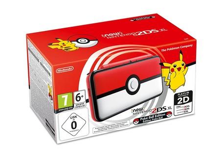 Consola Nintendo New 2DS XL, Edición Pokéball, por sólo 109 euros y envío gratis