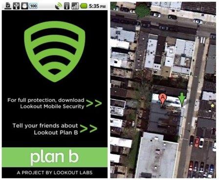 Plan B para Android, usar sólo en caso de pérdida o robo