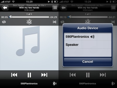 Últimas capturas del iPhone OS 3.0: Uso de auriculares bluetooth