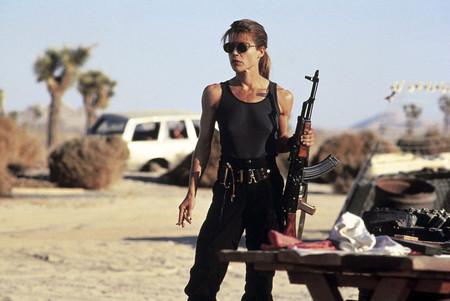 Linda Hamilton en Terminator 2