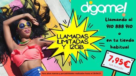 Los 12 GB más baratos caen por debajo de 8 euros con la nueva promoción de Digame