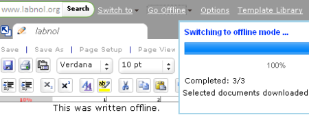 Zoho Office ya podemos usarlo de forma offline