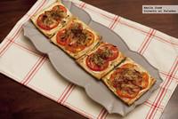 Receta de tostas de hojaldre con tomate