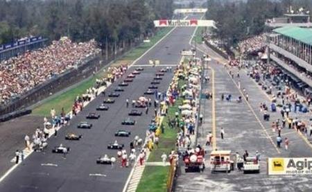 Parrilla de salida GP México 1986
