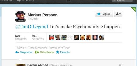 El creador de 'Minecraft' parece dispuesto a pagar el desarrollo de 'Psychonauts 2'