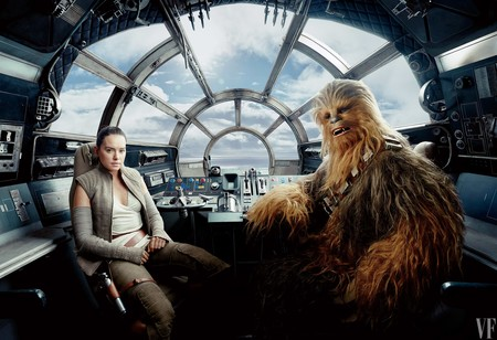 Rey con Chewbacca