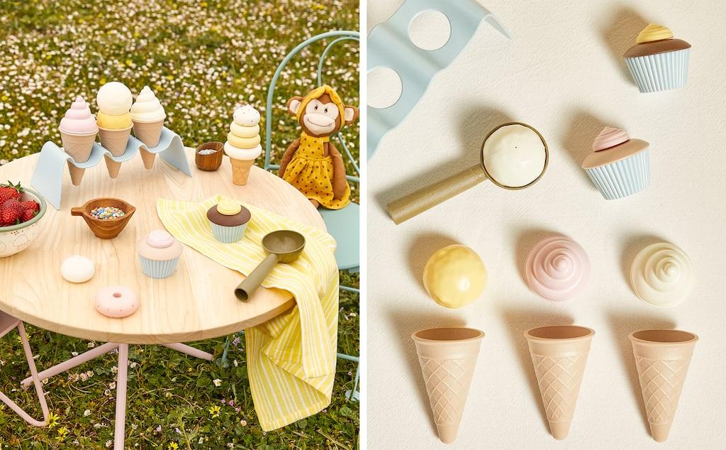 Juego helados de madera