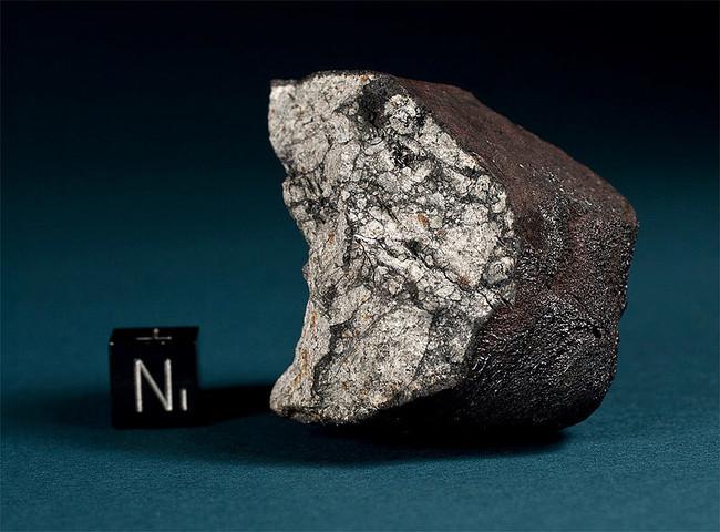 Esto es una condrita perteneciente al meteorito de Chelyabinsk