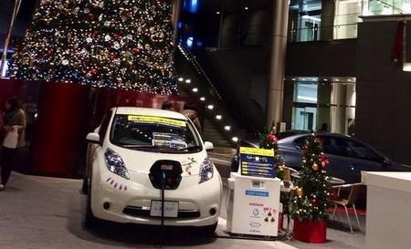 La faceta más navideña del Nissan LEAF