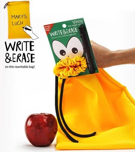 bolsa para merienda Hungry lunch bag amarilla
