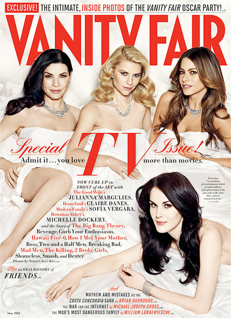 Vanity Fair May 2012 : Claire, Julianna, Michelle & Sofia by Norman Jean Roy