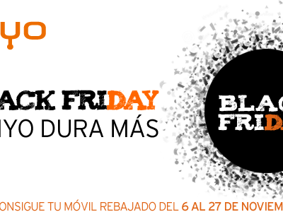 El Black Friday en Simyo dura más: del 6 al 27 de noviembre