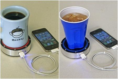 Cómo cargar tu móvil con una taza de café caliente