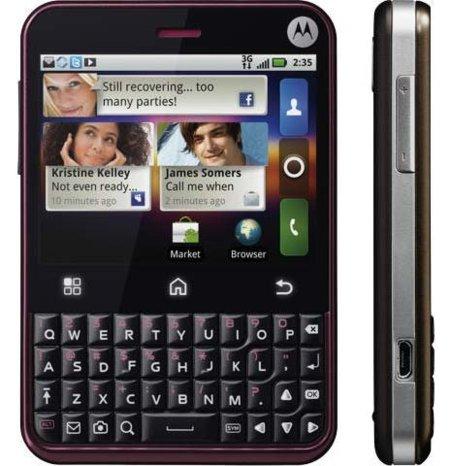 Se presenta Motorola Charm, el ataque Android de Motorola a BlackBerry