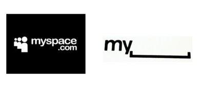 """MySpace presenta su simple y nuevo logo: """"my"""" + """"espacio"""""""