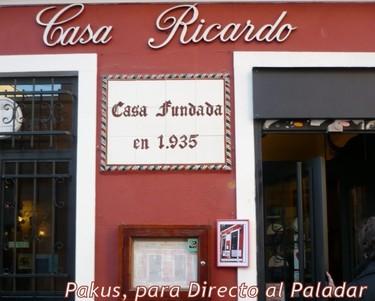 Casa Ricardo. Un clásico entre los restaurantes madrileños