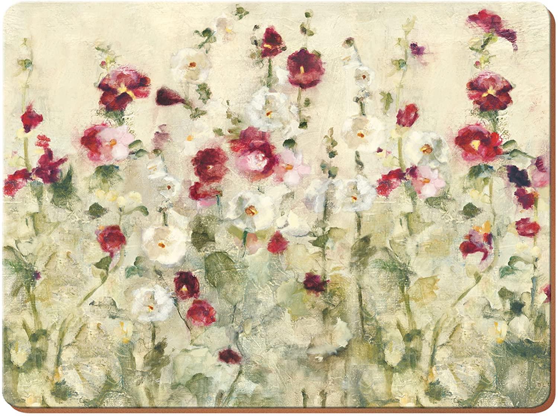 Creative Tops - Juego de 6 manteles Individuales, Parte Posterior de Corcho, diseño de vinos prémium, Madera, Rojo, Medium Placemats
