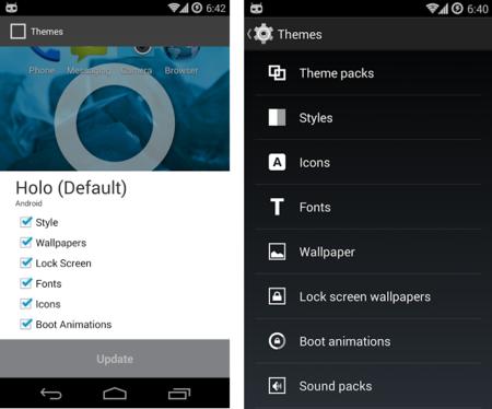 Theme Chooser Cyanogen