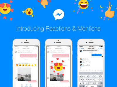 Facebook Messenger se actualiza con la llegada de las reacciones con emojis y las menciones en los mensajes