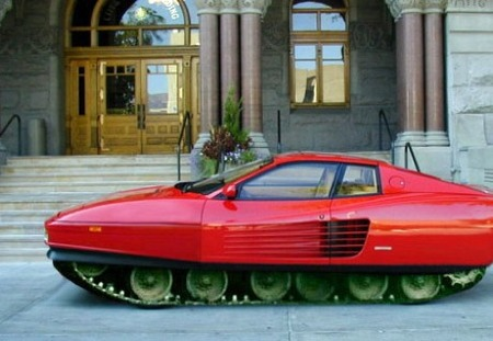 Ferrari Testarossa tanque