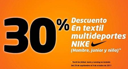 Sport Zone nos ofrece un 30% de descuento en productos Nike