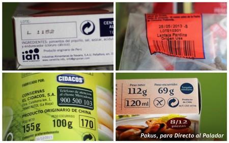 Países de procedencia de los alimentos
