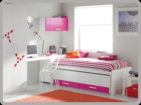 Repaso a los dormitorios juveniles de moblerone for Cuartos de ninas fucsia