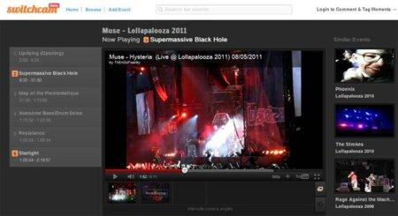 Switchcam, mejorando la forma de ver conciertos en Internet