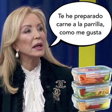 Carmen Lomana se ofrece como voluntaria para llevarle 'tuppers' a Elena Cañizares