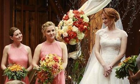 April Kepner en su boda.