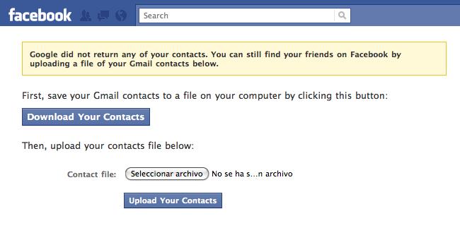 facebook vuelve a permitir importar contactos google