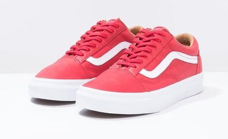 bee89fc2e1 Hechas para fardar  zapatillas Vans Old Skool en cuero rojo ahora por sólo  53