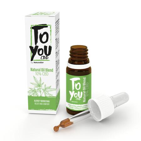 Natural Oil Blend 10cbd Toyou Blanco Aislado