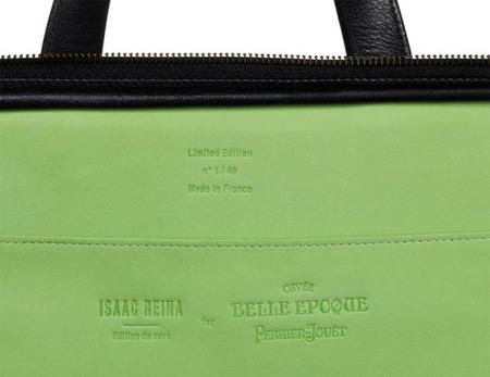 El diseñador español Isaac Reina crea una edición limitada de marroquinería para Perrier-Jouët