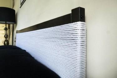 Hazlo tú mismo: un cabecero DIY con telas y cuerdas