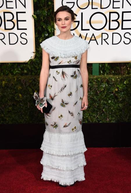 Keira Knightley Globos de Oro 2015