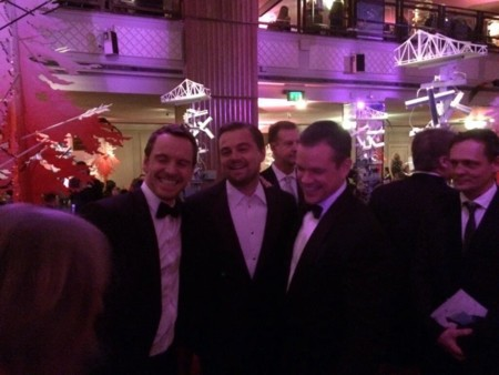 Michael Fassbender, Leonardo DiCaprio y Matt Damon