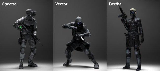 Spectre, Vector y Bertha