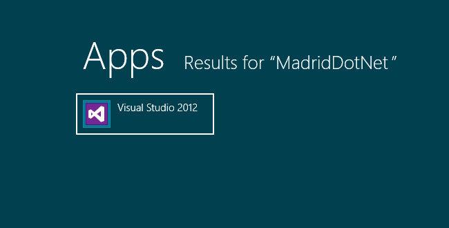 Evento Novedades VS2012 por MadridDotNet