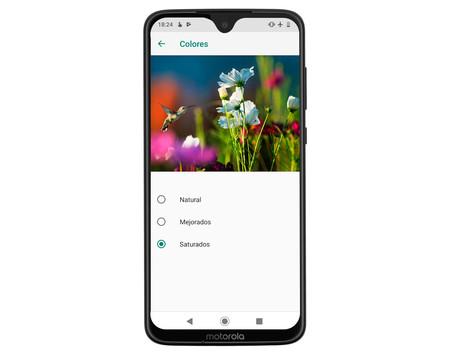 Moto G7 menú pantalla