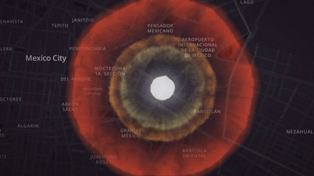 Este simulador nos muestra la destrucción si una bomba nuclear moderna cayera en las principales ciudades de México