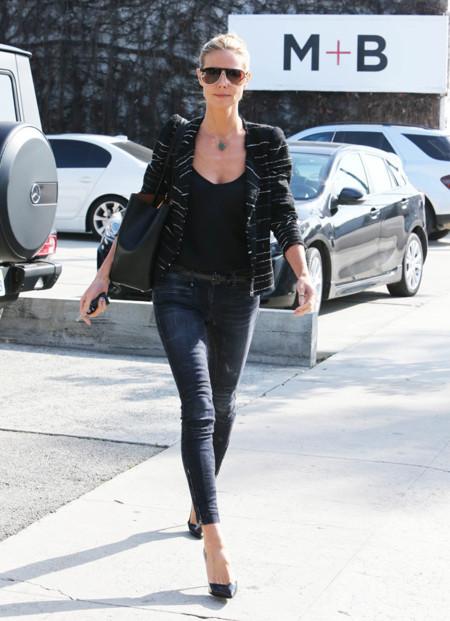 Heidi Klum Negro Street Style