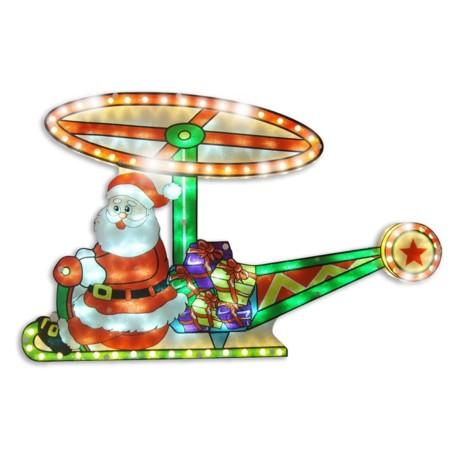 Papá Noel en helicóptero