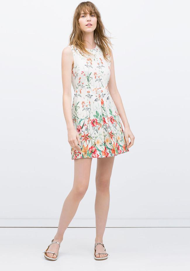 Vestidos Estampado Flores Verano 2015 4