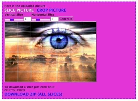 Picslice, divide tu imagen en partes iguales